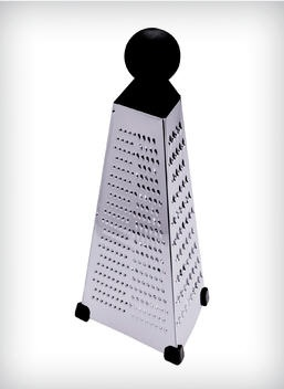 Large Stainless Steel Pyramid Grater with Knob