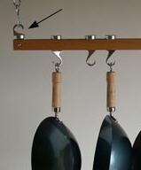 Pot Rack End Hooks For Track Rack