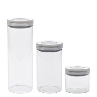 Oxo FlipLock Glass Canister Set Of 3
