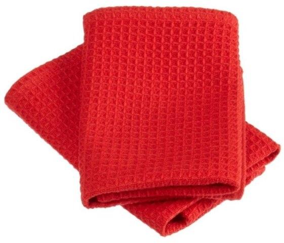 Red Waffle Weave Dishcloths Set of 2