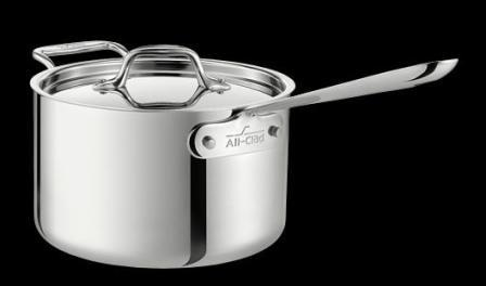 All-Clad Stainless 3 Quart Saucepan with Loop Handle