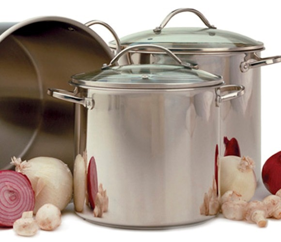 8 Quart Tri-Ply Stainless Steel Stockpot with Glass Lid