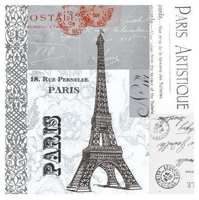 Paris Eiffel Tower Cocktail Napkin