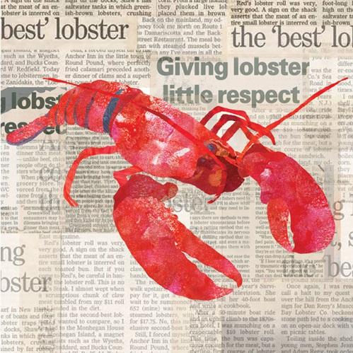 Lobster Paper Cocktail Napkins