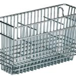Chrome Wire 3 Compartment Utensil Basket