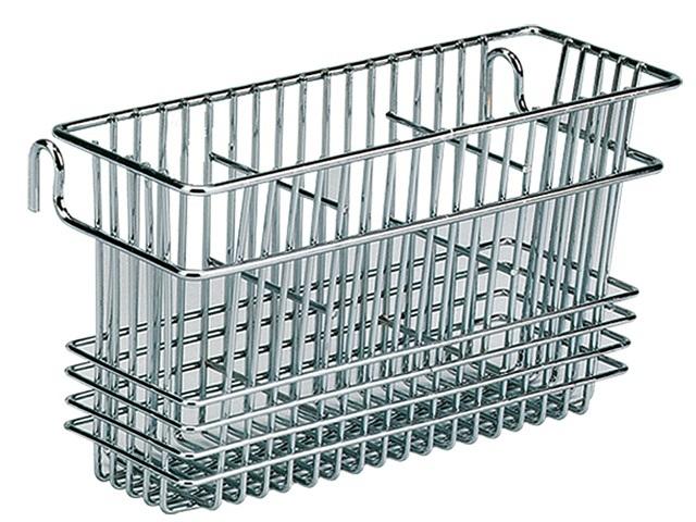 Chrome Wire 3 Compartment Utensil Basket