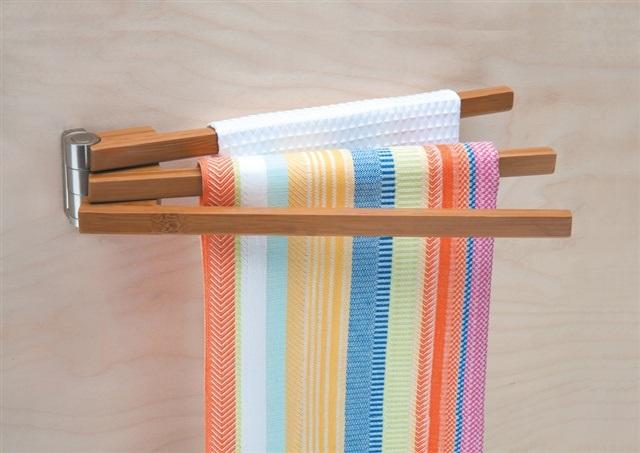 Bamboo 3 Arm Towel Bar
