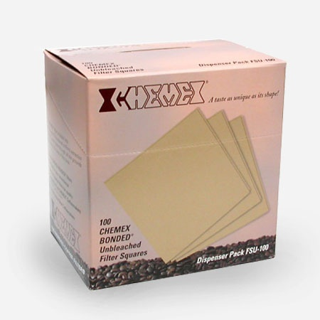 Folded Unbleached Chemex Filters Box/100