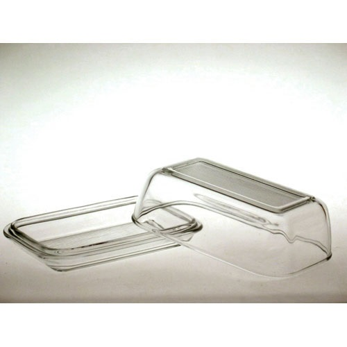 Old Fashioned Glass Butter Dish