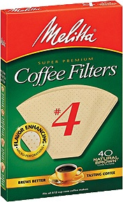 Melitta #4 Filters Unbleached 40ct
