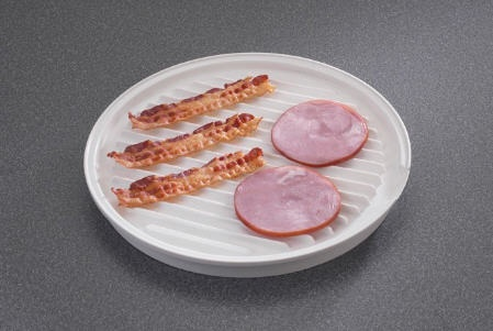 Round Microwave Bacon Tray