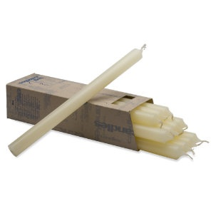 12″ Straight Ivory Candle