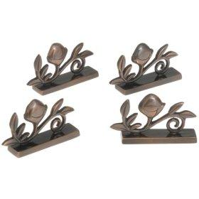 Bronze Acorn Placecard Holders Set of 4