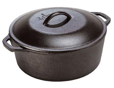 Lodge Cast Iron Preseasoned 5 Quart Dutch Oven