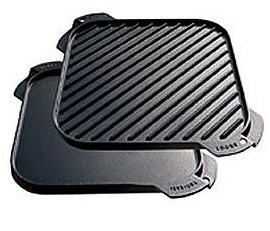Single Burner Cast Iron Griddle Grill Pan Combo