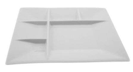 Square White Fondue Plates Set Of Four