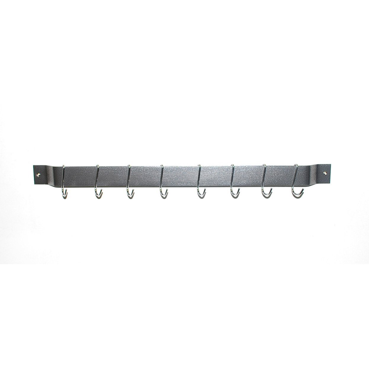24″ x 2″ Hammered Steel Bar Rack