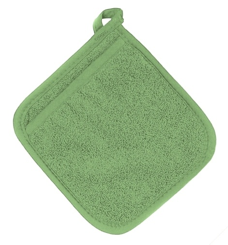Cactus Green Terry Potholder with Pocket