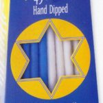 Blue and White Hand Dipped Hanukkah Candles Box of 45