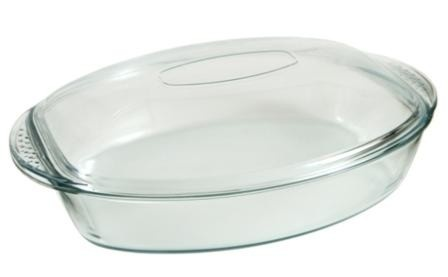 Ovenproof 4.4 Quart Glass Roaster