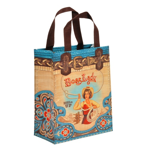 Recycled Blue Boss Lady Tote Bag