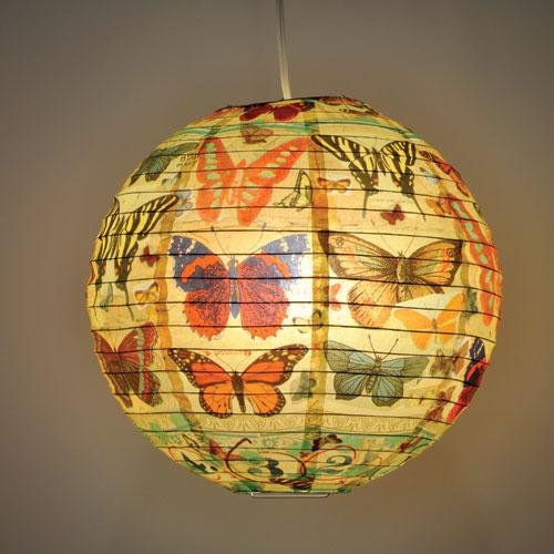 Butterfly Round Paper Lantern