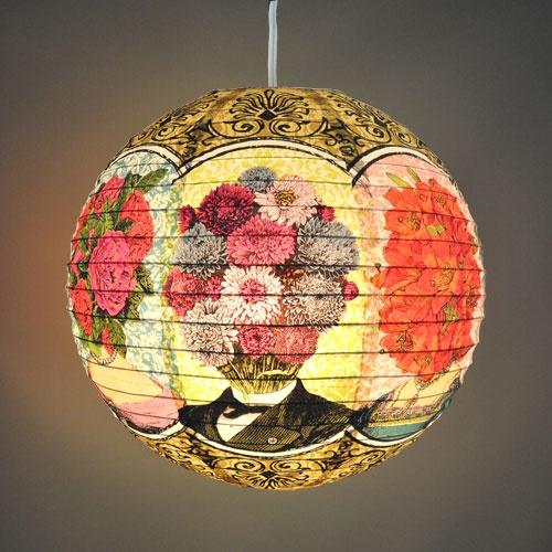 Flower Heads Round Paper Lantern