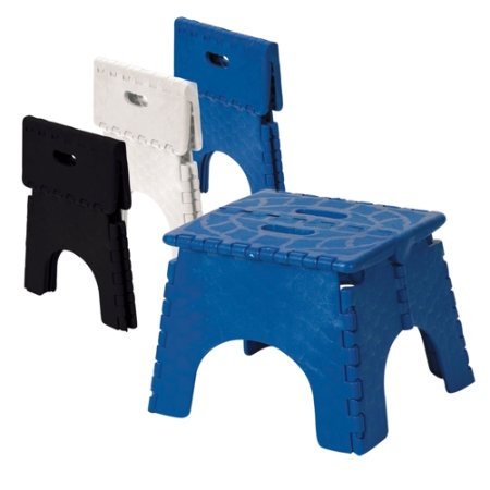 Plastic Simple Step Stool Fold-Up Primary Colors