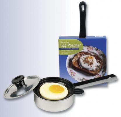 Single Aluminum Egg Poacher with Lid