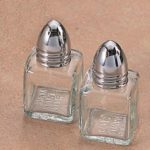 Individual Glass Salt and Pepper Shakers