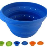 Blue 4 Quart Collapsible Silicone Colander