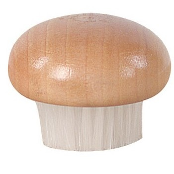 Round Wood Top Mushroom Brush