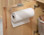 Brushed Stainless Over Cabinet/Drawer Paper Towel Holder