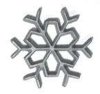 3.5″ Snowflake Rosette Iron