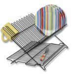 Black Coated Wire Folding Dishrack