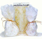 4″ x 9″ Large Cello Bag Gold Dots