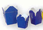 1/2 Pint Blue Paper Chinese Carton