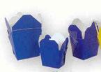 1/2 Pint Blue Paper Chinese Carton