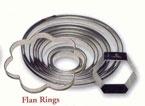 8″ Round Stainless Flan Ring