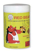 Red Bear Copper and Brass Polish Powder