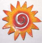 Haitian Metal Wavy Sun Magnet