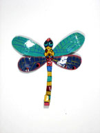 Colorful Haitian Art Dragonfly Hook