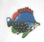 Haitian Metal Tropical Fish Magnet