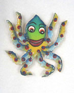 Haitian Metal Octopus Magnet