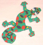 Haitian Metal Gecko Magnet