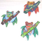 Haitian Metal Tree Frog Magnet – Assorted Colors