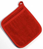 Red Terry Potholder withPocket