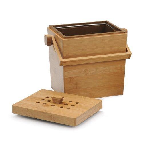 Rectangular Bamboo Compost Bucket