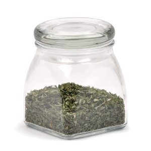 4 oz Square Spice Jar with Sealed Glass Lid