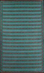 4″ x 6″ Uberturk Aqua/Black Indoor/Outdoor Mad Mat